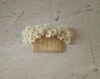 blush hair accessory, blush bridal headpiece, blush bridal comb, jeweled bridal hairpiece, bridal hair accessories, bridal hair piece