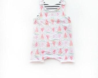 Watermelon Romper / Kids Romper / Summer Onesie / Unisex Jumper / Summer Clothes / Baby Toddler Romper / Girls Romper / Fruit Clothes