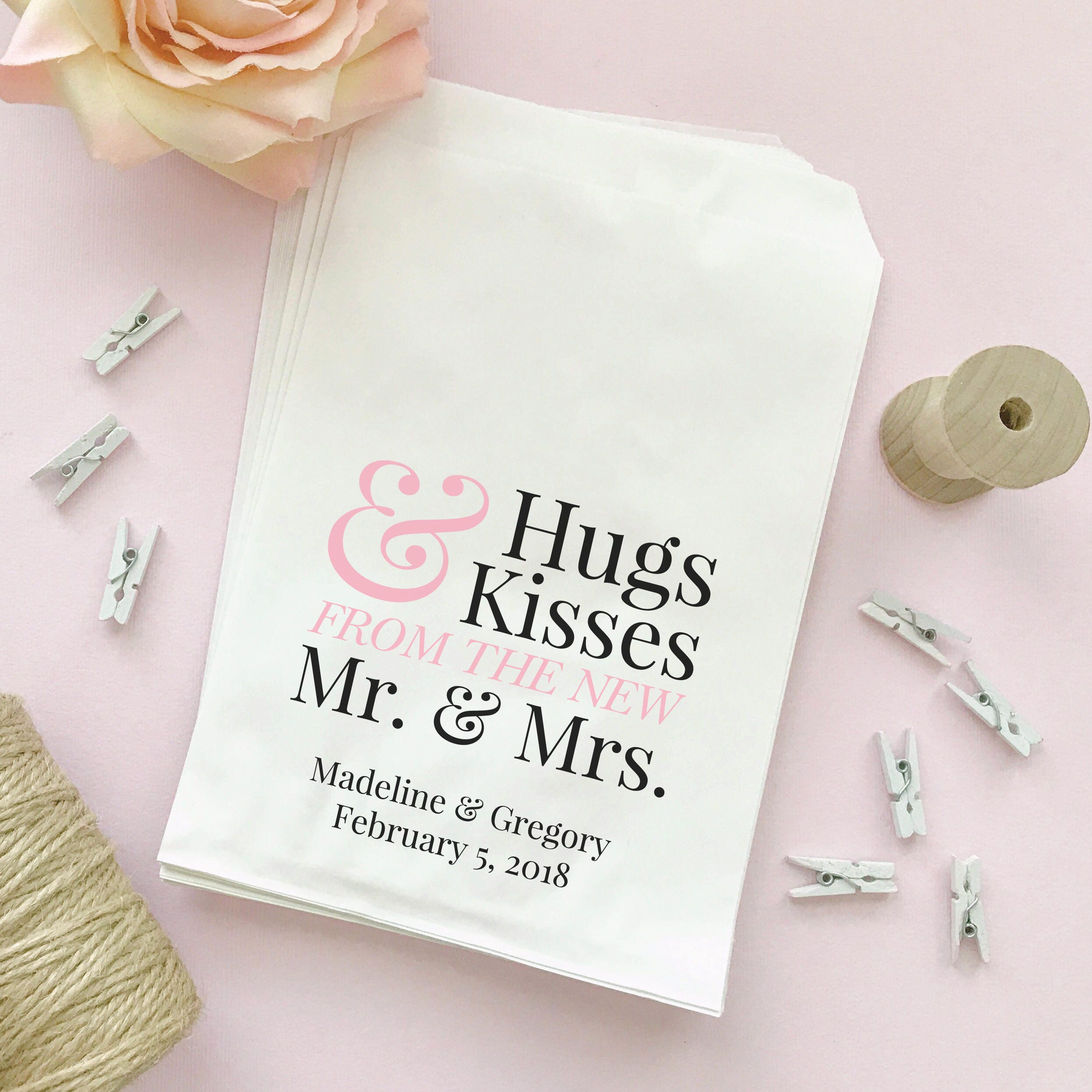 Hugs and kisses bags 30 Hugs and kisses from the mr and
