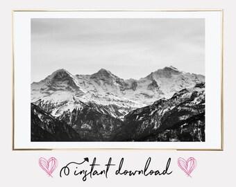 mountains poster print, scandinavian print, mountains poster, affiches scandinave, scandinavian poster, printable art, downloadable print