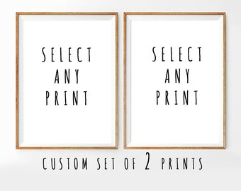 Set of 2 Prints, custom size print, Set of 2 prints of your choice, free custom size, order on request, Set of 2 Wall Art, Digital Download
