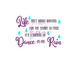 Dancing in the rain SVG