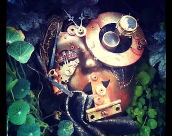 "Steampunk Mask- ""The Observer"""
