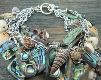 mermaid bracelet,abalone bracelet ,seashells, anniversary, resort wear, cruise wear, beach, summer, gypsy, boho, hippie ,festivals