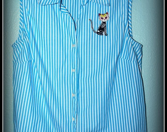 1950s Reproduction Kitten Top..... Size M/L