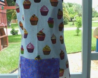 Tea Towel Apron - Cupcakes