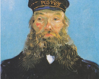 Portrait of Joseph Roulin by Vincent Van Gogh Home Decor Wall Decor Giclee Art Print Poster A4 A3 A2 Large Print FLAT RATE SHIPPING
