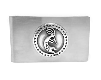 Kokopelli Money Clip – Metallic