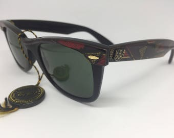 Ray Ban - Vintage Sunglasses. Wayfarer Limited Edition U.S. Olympic Series 36USC380 Bausch and Lomb