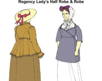Regency Half-Robe and Robe Pattern