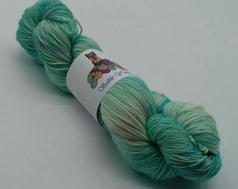 80/20 Superwash Merino/Silk high twist sock yarn: Selkie