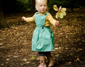 toddler clothes, toddler dress, toddler pinafore, girls pinafore, jumper dress, girls dress, first birthday dress, autumn girls dress