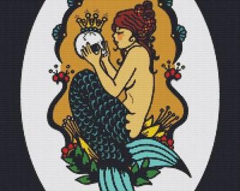 Modern Cross Stitch Kit 'Sephina's Secret ' By Illustrated Ink - Tattoo Art