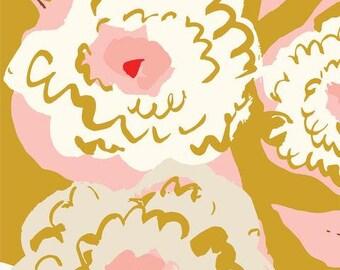 Peonies - Peony Season - To Market To Market - Emily Isabella - Cloud9 Fabrics - Organic Cotton Fabric By the Half Yard