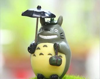 My Neighbor Totoro Studio Ghibli Resin Miniature Vinyl toy Figure miniature terrarium Fairy Garden DIY craft supply