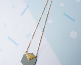 Geometric Hexagon Necklace - Hexagon Necklace - Geometric Necklace - Gold Necklace - Gold Jewellery - Minimal Necklace - Geometric Jewellery