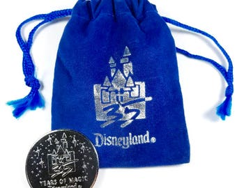 Vintage Disneyland 35 Years of Magic Coin 1955-1990 with pouch