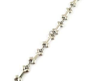 Silver Dog Bone Bracelet - Dog Bone Chain Bracelet - Dog Themed Bracelet - Dog Bone Bracelet - Everyday Jewelry - Pet Jewelry - Dog Mom