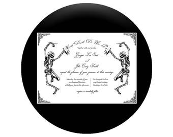 Custom Printable 5x7 Wedding Invitation - Till Death Do Us Part