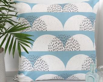 Couvre-oreiller nuage coussin impression couverture blanc bleu pâle «Cumulus»