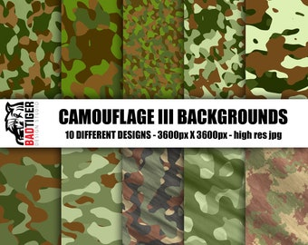 Green Brown Camouflage Digital Paper, Camo Scrapbook Paper, Digital Camouflage, Camouflage Paper, Camouflage, Camo, Military