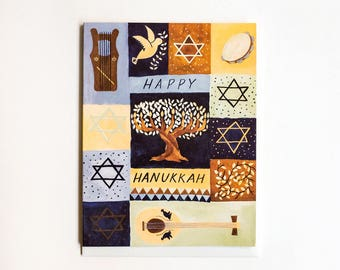 Hanukkah Instruments Card / Set of 8