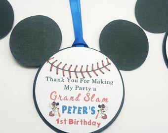 Mickey Baseball Thank You Tags
