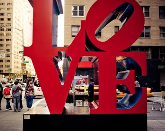 Robert Indiana Love Statue - New York City Art - Urban Home Decor - Cityscape - NYC Photography - Housewarming Gift - Fine Art Photography