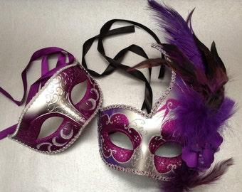 Mens masquerade mask etsy silver purple new year mardi gras party masquerade ball mask solutioingenieria Images