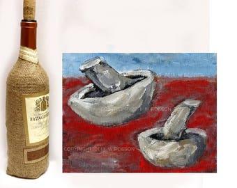 Mushrooms, Original Painting, Still Life Painting, Food, Kitchen Art, Kitchen Decor, Home Decor, Restaurant, Chef, Cooking, Winjimir, Art