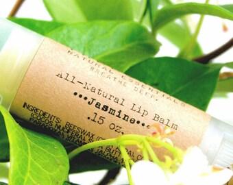 Jasmine Shea Butter Lip Balm / Organic Lip Balm / Natural Lip Balm / Handmade Lip Balm / Essential Oils / Natural Skin Care / Gifts for Her