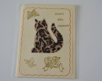 Cat card mother's day.