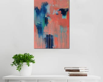 Phthalo Love // Artist Charlie Albright // Blog Moments by Charlie // Abstract Art in Acrylic Paint