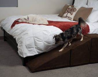 Tall Pet Ramp with Landing for Beds and Couches Made in USA