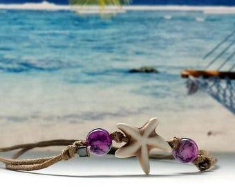Wax Bracelet-Natural stone-Star-Surferarmband-outdoor-yoga-beach-Fitness
