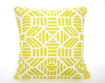 OUTDOOR  Yellow Pillow Covers, Nautical Beach Pillows, Nautical Cushions Pineappe Yellow White Patio Sun Room All Sizes  Mix & Match