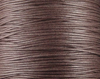 REDUCED Cotton Wax Cord 5 Yards Brown 1.5mm thick Spool (1012cor02m1-5)