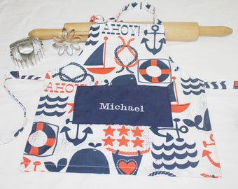 Personalized Infant Apron - made to order, your choice of fabric