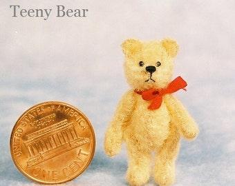 Kit d'ours en peluche Miniature ours Teeny - motif - par Emily agriculteur