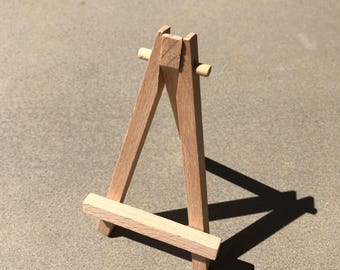 Mini Wooden Easel—Tabletop Display for Mini Canvas Painting or Art—Ready to Ship—Free Ship in 1 to 3 Days to US
