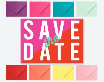 SAMPLE PACK - Anne Neon Save the Date Postcard