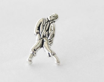 Silver Zombie Tie Tack, Zombie Tie Pins, Zombie Gifts for Men, Zombie Accessories, Zombie Lapel Pin, Undead Pin, Men's Accessories, Geekery