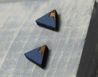 Mountain Earrings, Wood Earrings, Wood Mountain Earrings, Mountain Range  Earrings, Painted Earrings, Hand Painted, Nature Jewelry