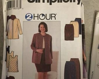Simplicity Sewing Pattern # 7291 - 2 hour Suit Plus Size 26W - 32W  UNCUT