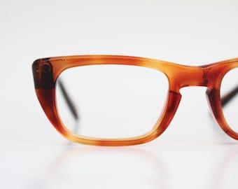 Vintage 60's Brown Tortoise Cat Eye Eyeglasses Sunglasses Frames