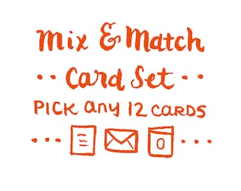Mix & Match Card Set -12 Cards