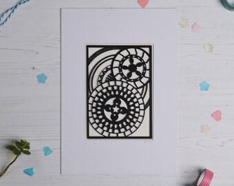 Mandala pattern paper cut 3, Paper cut art, Home decor, Paper cut picture, Mandala picture, Pattern art FREE P&P