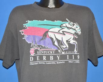 90s Kentucky Derby 119 Horse Races 1993 t-shirt Extra Large