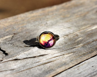 Fire Galaxy Ring - One of A Kind