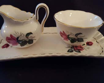 Grosevenor sugar and creamer set with tray